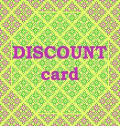 Frame discount card vector