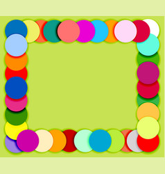 Frame made of color circles 2 vector