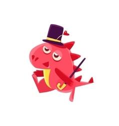 Gentleman red dragon vector