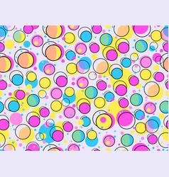 geometric seamless pattern with circles of violet vector image vector image