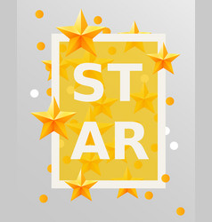 golden stars design elements best of the concept vector image