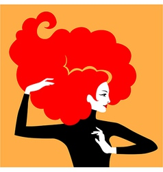 hair elegant red vector image vector image