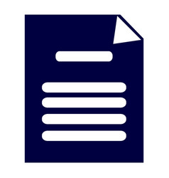 isolated document icon vector image