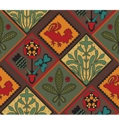Italian contry tile pattern vector