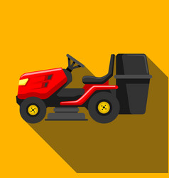 lawn tractor icon isolated on background modern vector image
