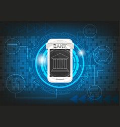 mobile banking graphic technology background vector image