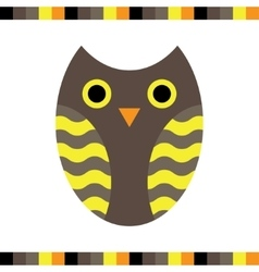 Owl stylized icon warm colors vector