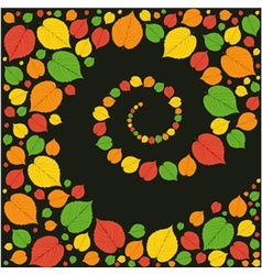 pattern from autumn leaves vector image vector image