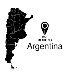 Regions map of Argentina vector image vector image