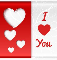 romantic beautiful poster vector image vector image