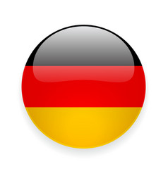 Round icon with flag of Germany vector image vector image