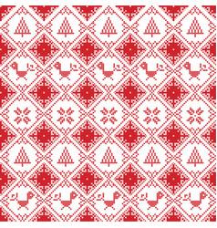 Scandinavian seamless cross stitch vector