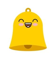 School bell kawaii character isolated icon vector