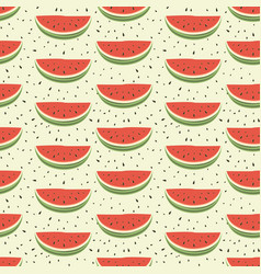 seamless pattern of watermelons vector image vector image