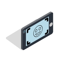 Selfie icon in isometric 3d style vector