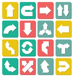 Set of flat arrows vector image vector image