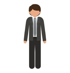 Silhouette man with formal suit without face vector