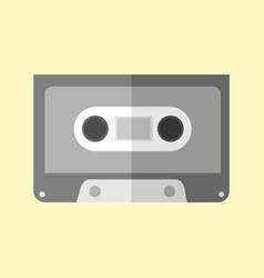 Simple audio cassette graphic vector