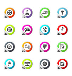 vehicle service station icons set vector image