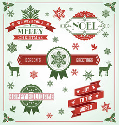 Vintage holiday banner set vector