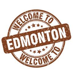 Welcome to edmonton vector