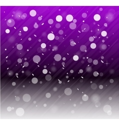 Whte snow bokeh purple background vector image vector image