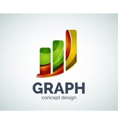 Graph logo template vector