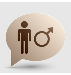 Male sign  brown gradient icon on vector