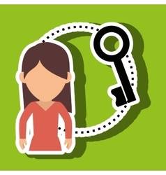 Character key secure protection vector