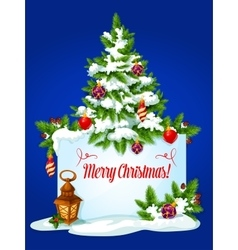 Christmas tree winter holidays greeting card vector