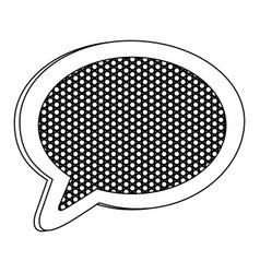 emblem chat bubble icon vector image