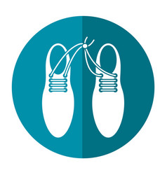 April fool shoelaces tied image shadow vector