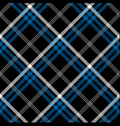 black check seamless diagonal fabric texture vector image