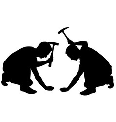 people with hammer vector image