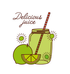 delicious juice design vector image