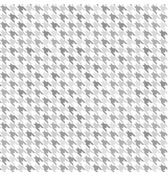 Houndstooth pattern gray and white seamless vector