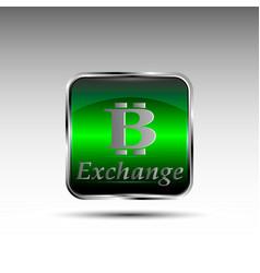 Button with bitcoin symbol vector
