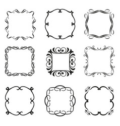 Calligraphic frames set vector