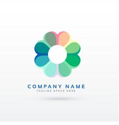 Soft flower style logo design concept vector