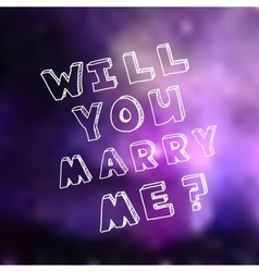 Poster template for marriage proposal design vector