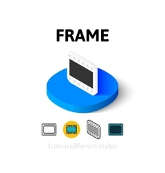 Frame icon in different style vector