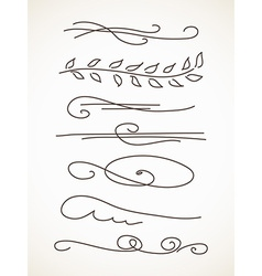 Decorative line vector