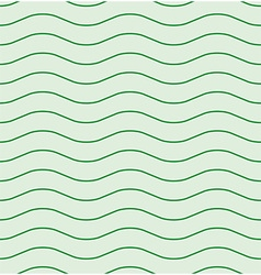 Wavy line green seamless pattern vector