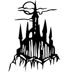 Castle - halloween set - vector