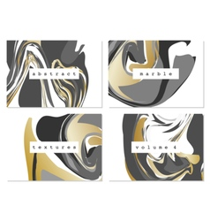Marble textures collection vector