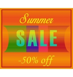 Summer sale fifty percents off vector