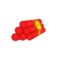 Dynamite icon cartoon style vector