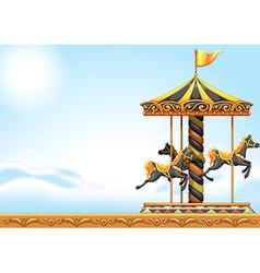 A carousel ride vector