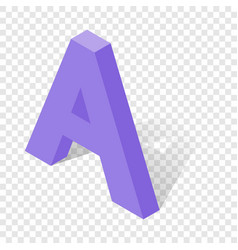 A letter in isometric 3d style with shadow vector