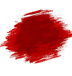 Abstract red grunge background crayons paint vector image